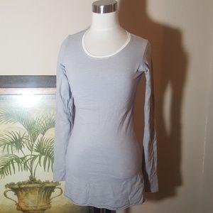 LULULEMON Striped Gray T-Shirt  - Size 6